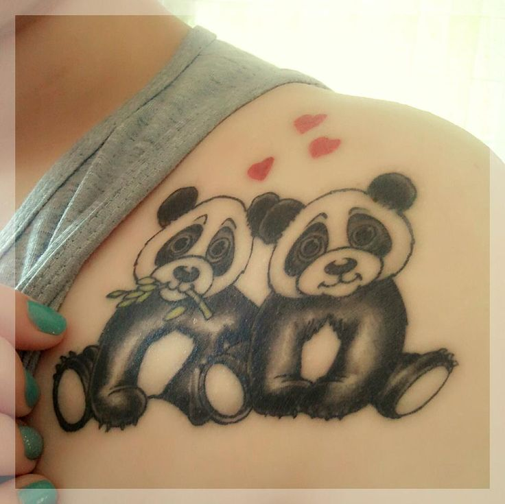 32 best images about tattoos on pinterest heart star for Baby panda tattoo