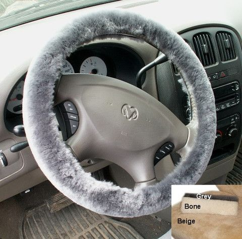 Sheepskin Steering Wheel Covers keeps your hands warm in the winter and cool in the summer.