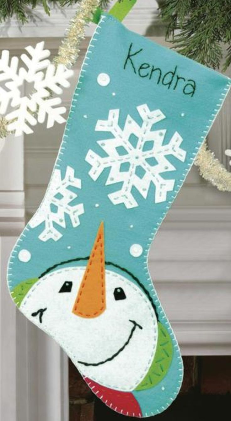 Snowman stocking - google search