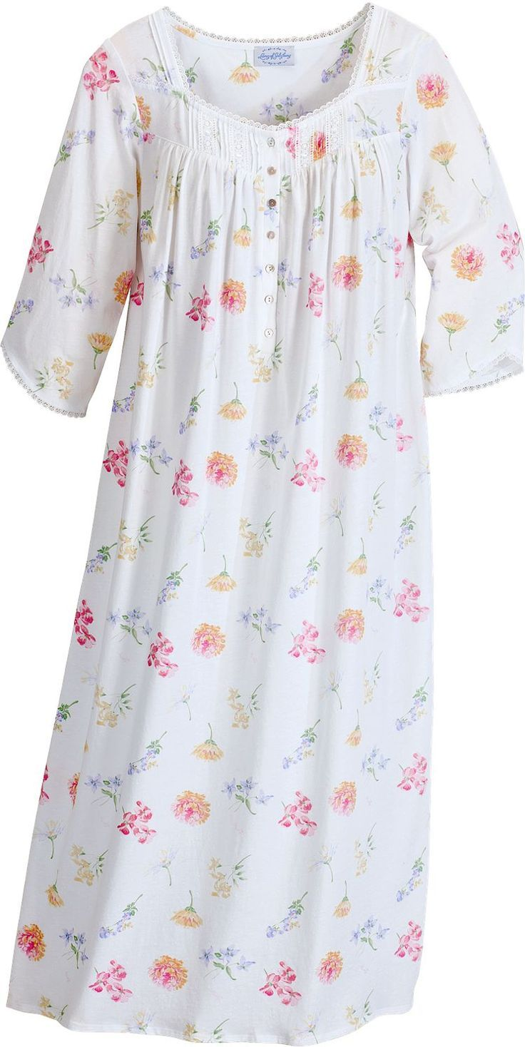 Women\'s Lanz Tossed Floral Print Nightgown | Night gowns | Pinterest ...