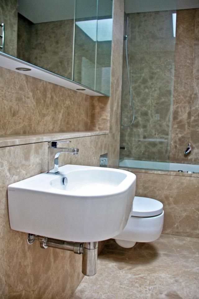 Light Emperador Bathroom Supplied and Installed by Euro Marble