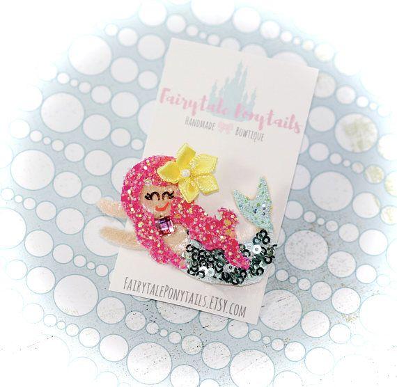 Mermaid Hair Clip Glitter brooch FAIRYTALE PONYTAILS