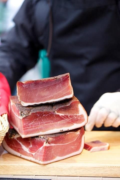 MyVita | Speck.  A cured meat popular especially in the north of Italy - think of it as prosciutto's lean and smoky cousin! www.myvita.it