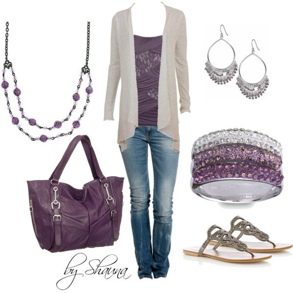 Casual Outfit: Pretty Purple, Fashion, Outfit Ideas, Clothes, Dream Closet, Color, Purple Outfits, Styles, Casual Outfits