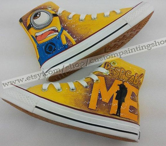 Minions+Converse+Custom+Converse+Shoes+by+custompaintingshoes,+$63.99