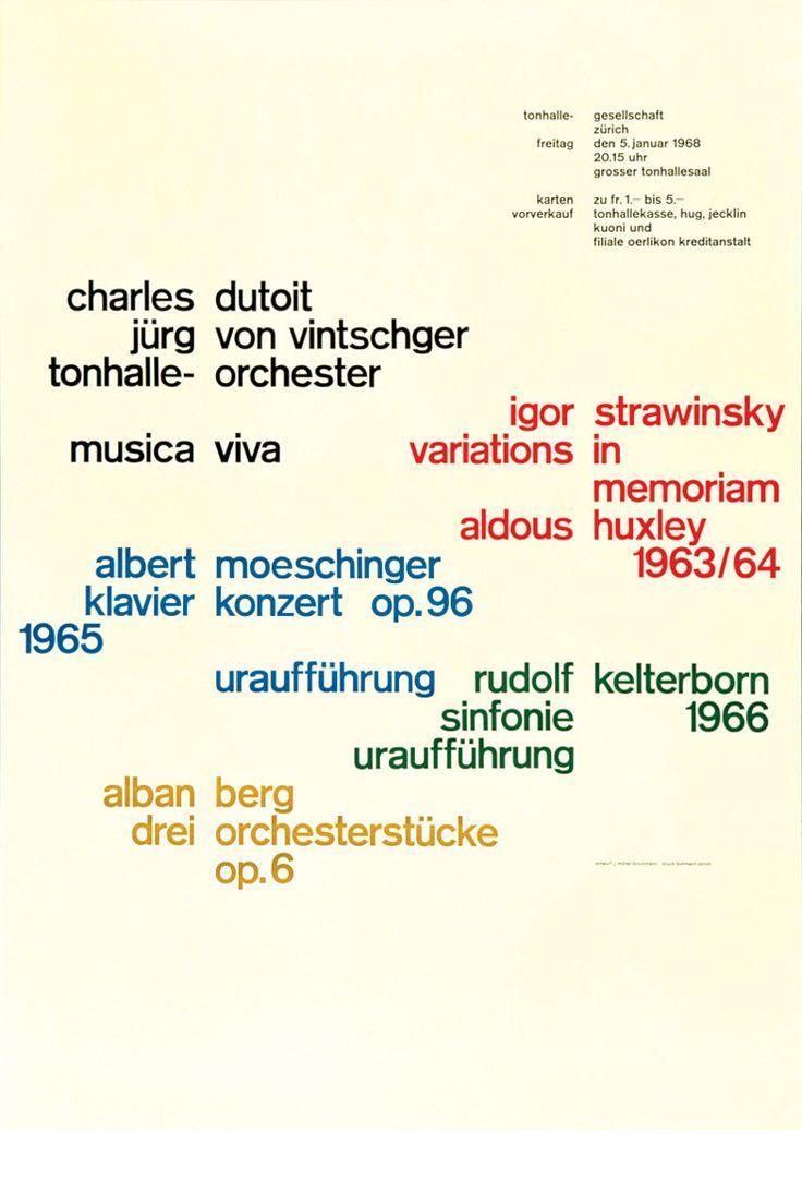 38 best Josef Muller-Brockmann images on Pinterest | Graphic ...