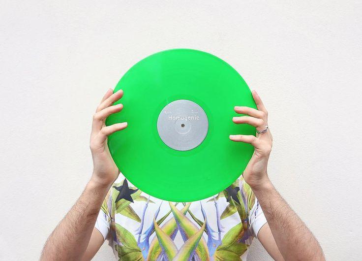 Happy earth day here is my favourite uber green record  Bjork - Homogenic  #bjork #homogenic #vinyl #earthday #vinyljunkie #vinylcollection #vinyligclub #vinyladdict #nowspinning #colouredvinyl #coloredvinyl #green #givenchy @bjork by mienfool