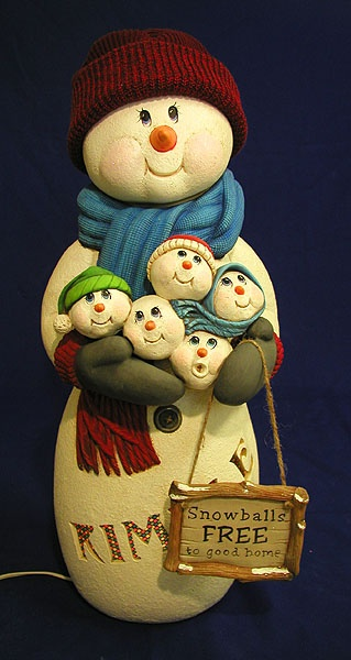 ceramic snowman  can find all molds at Paintin Place Ceramics in Bisque or Greenware.