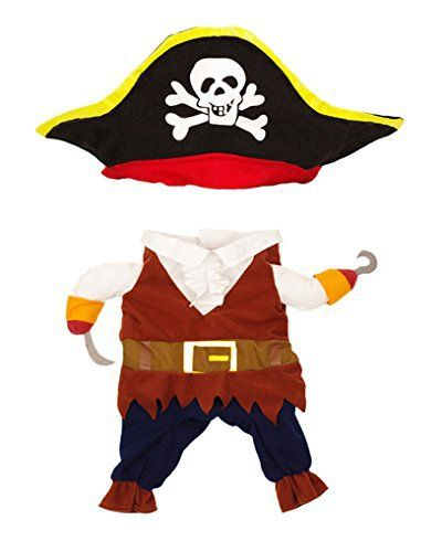 Topsung Cool Caribbean Pirate Pet Costume for Dogs / Cats, Size S - http://www.thepuppy.org/topsung-cool-caribbean-pirate-pet-costume-for-dogs-cats-size-s/