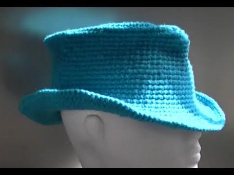 Fedora / Cowboy / Cowgirl Hat Crochet Tutorial Part 1 of 3 - YouTube