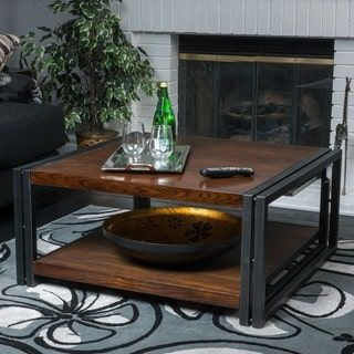Shop For Mayfair Dark Oak Wood Coffee Table By Christopher Knight Home Get Free Shipping