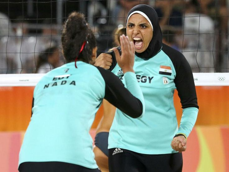 Jogos Olímpicos 2016 (Rio de Janeiro): Doaa Elgobashy e Nada Meawad, Egito