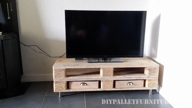 75 best palets muebles para tv images on pinterest - Muebles para televisores ...