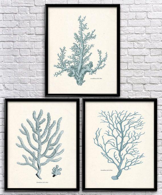 Nautical Sea Coral Set | Vintage Prints | Nautical Prints | Home Decor | Office Decor | Printable Wall Art | Vintage Wall Art | Download |