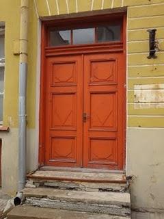 oranje deur