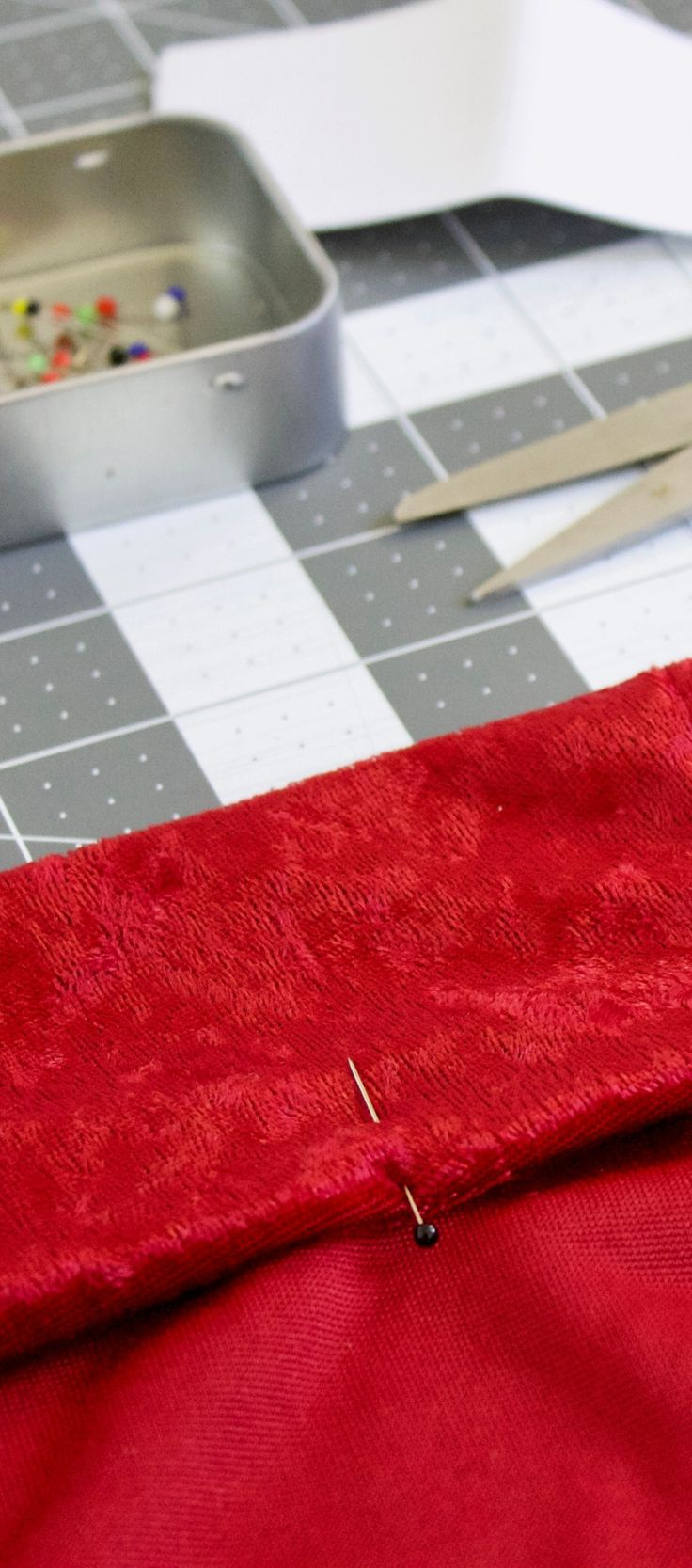 We can't help but love any project that involves velvet! Click here to learn how to make red high waisted pants. Best part? They're easy to make dressy or casual depending on the party.