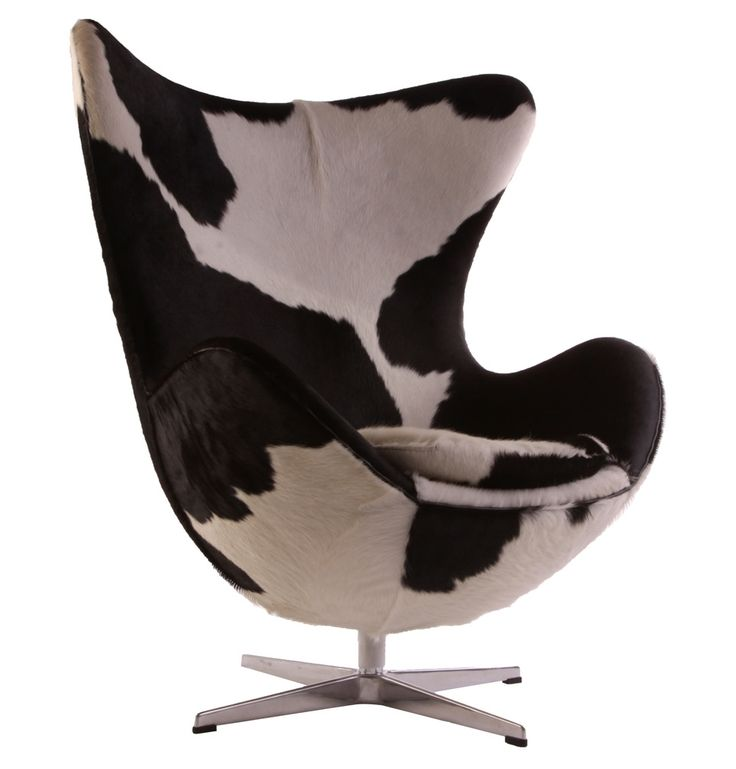 Replica Arne Jacobsen Egg Chair - Cowhide by Arne Jacobsen - Matt Blatt