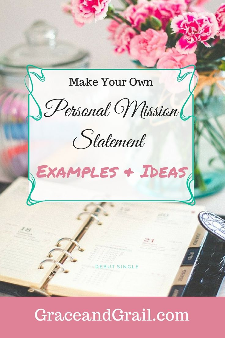 Writing my own personal mission statement