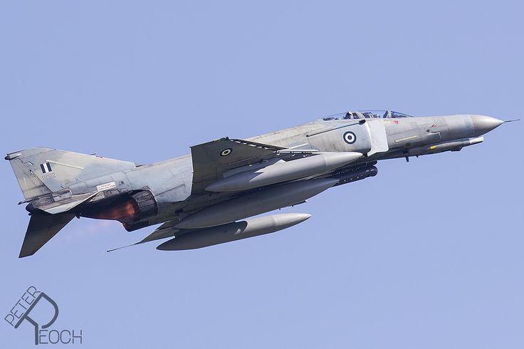 https://flic.kr/p/W6x525 | 01512 / Hellenic Air Force / F-4E AUP Phantom II | F-4E (AUP) Phantom blasting out of Florennes Air Base.