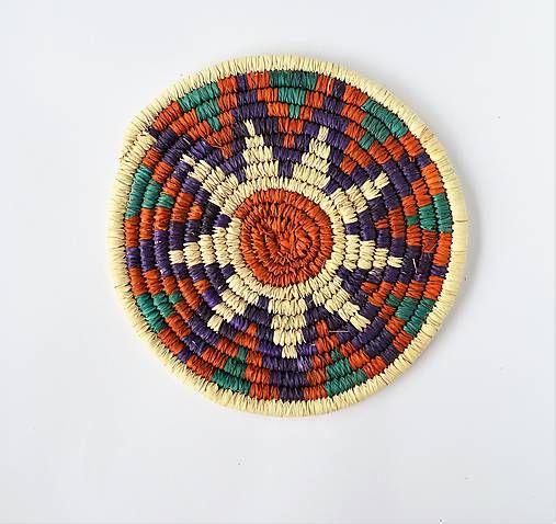Sufi - ručne pletená podložka z palmových listov