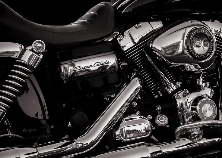 Dyna Super Glide Custom - Original fine art black and white Harley Davidson Motorcycle  Photography by Bob Orsillo  Copyright (c)Bob Orsillo / http://orsillo.com - All Rights Reserved.  Buy art online.  Buy photography online
