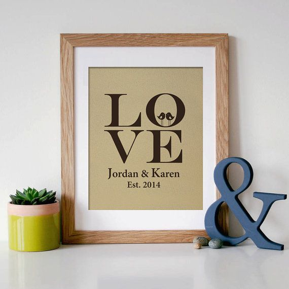 Personalized Family Name Signs Wedding Gift  Family by MyDreamWall