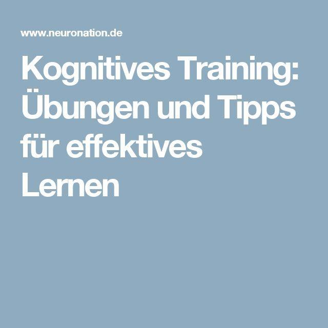 Kognitives Training: Übungen und Tipps für effektives Lernen