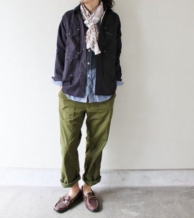 Engineered Garments Fatigue Pant Cotton Oxford Olive