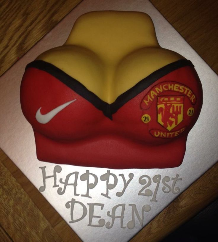 Boys cake! Manchester United boobs!
