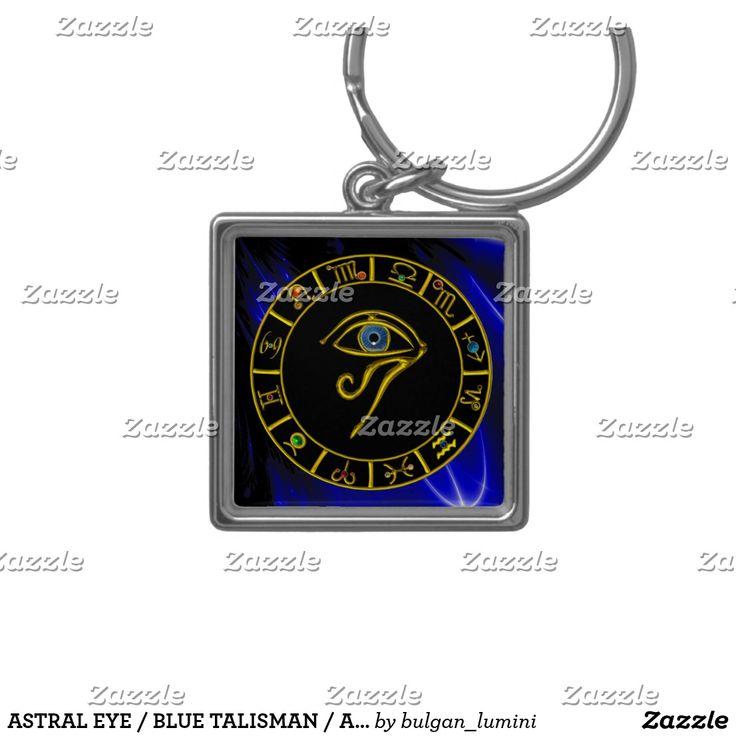 ASTRAL EYE / BLUE TALISMAN / Astrology Zodiac Chart Keychain  #astrology #astrologist #zodiacal #zodiac #agypt #horus #magic #zodiacchart #watches #3d #digitalart