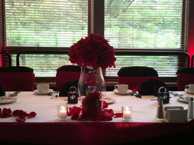 How romantic...Table and chair decor with floral centerpiece ~ #WeddingsByNicole