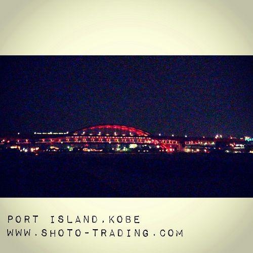 神戸ポートアイランドにつながるブリッジ。ここからの夜景は穴場スポット! #神戸 #behappykobe