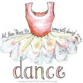 Dance TuTu Print (Psalm 149:3)