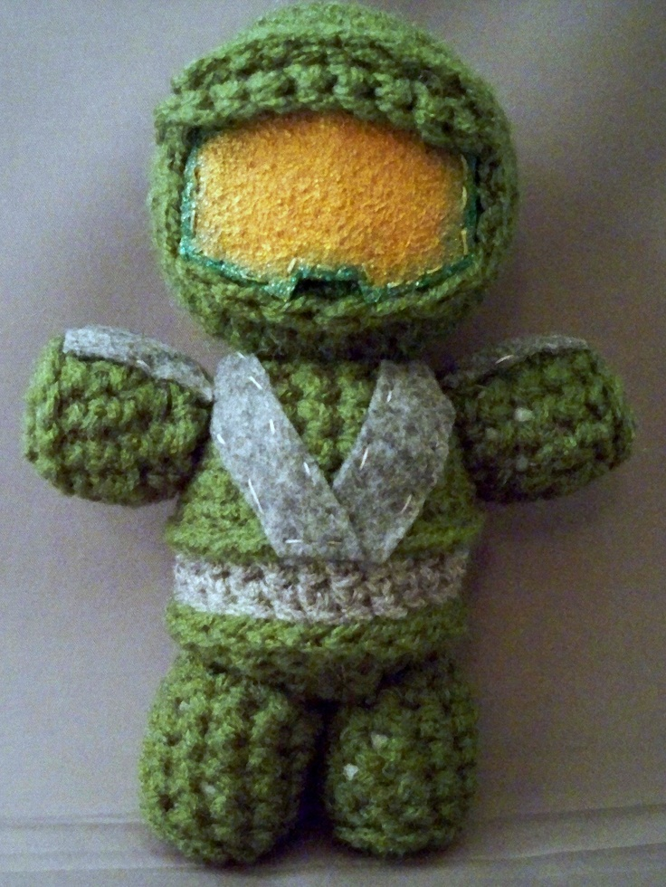 Master Chief of the Halo video game series. (custom order @ LindsaysCreation@gmail.com)