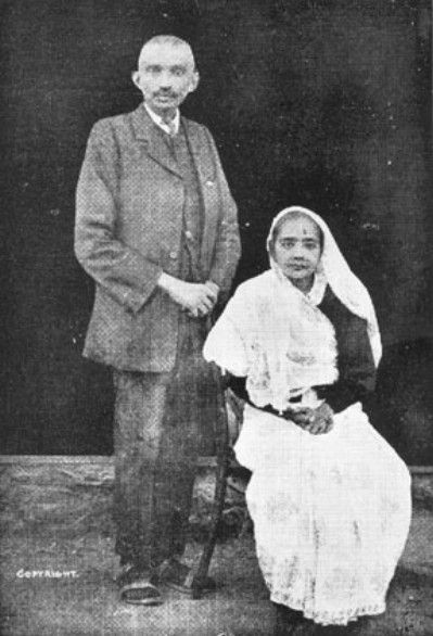Inspirational - Mahatma Gandhi With Wife