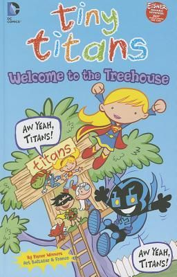 """""""Welcome to the Treehouse"""", by Art Baltazar & Franco Aureliani - New pals Blue Beetle and Supergirl stop by the Titans Treehouse, only to find most of the Tiny Titans away on a field trip. Good thing a few lesser-known heroes are still at school! Plus: follow Raven and Trigon through a typically crazy morning."""