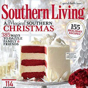 Red Velvet Cheesecake Cake - Southern Living Magazine December Issue