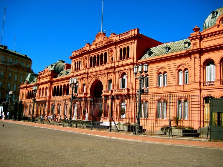 La Casa Rosada overlooks Plaza de Mayo and is where the President of Argentina works. You can take a free tour of the building on weekends and public holidays. #buenosaires #argentina #presidents #travel #tourism #casarosada