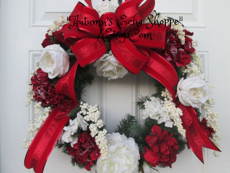 Good FROSTED FLORAL WREATH , Faux Evergreen Wreath ,Luxury Christmas Decor Wreath  , Holiday Door Wreath