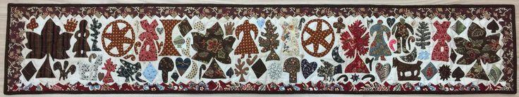 Norfolk Settler, interpretation from an original design from the V& A Museum in UK. Hand appliqued