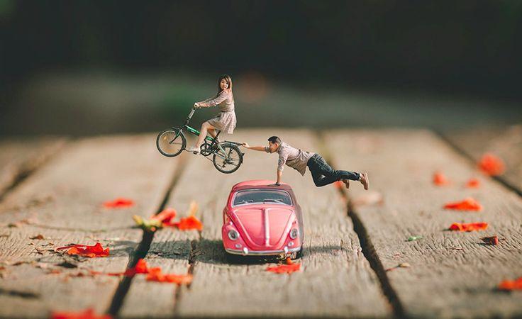 Este fotógrafo de bodas convierte a las parejas en personas diminutas