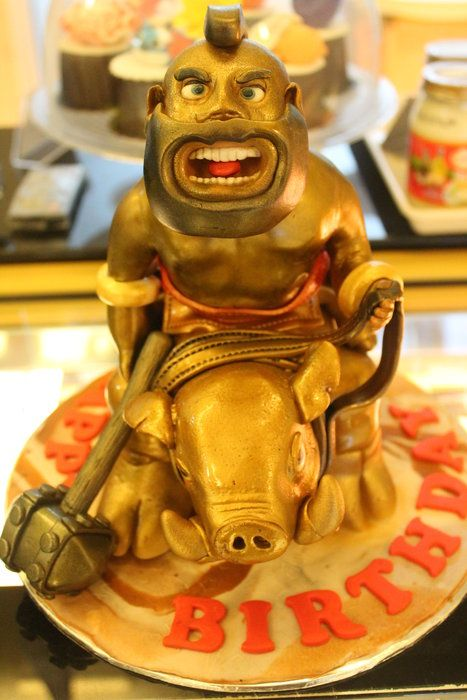 Clash Of Clans ~ Hog Raider cake - by Reggae's Loaf @ CakesDecor.com - cake decorating website