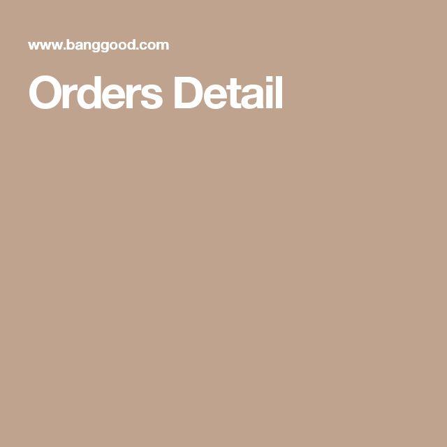 Orders Detail