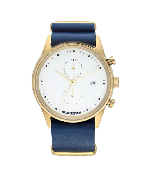 HYPERGRAND MAVERICK CHRONO NAUTICAL BLUE LEATHER.  www.tokki.com.au