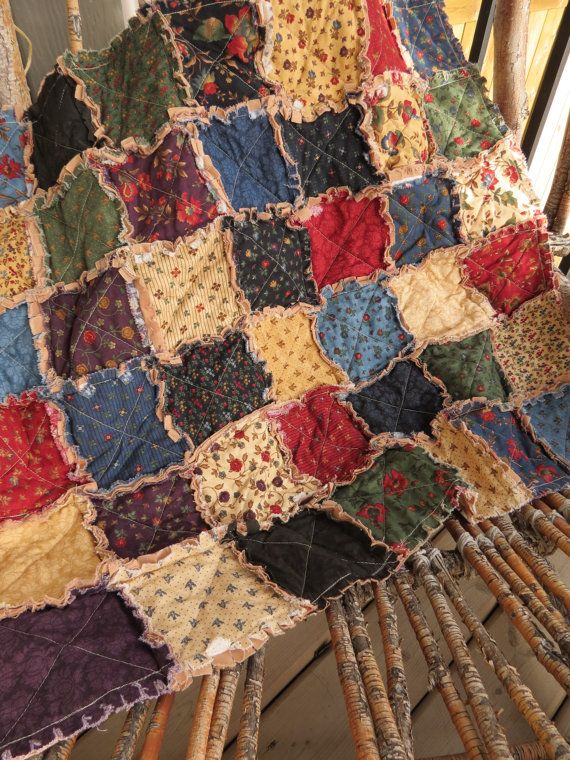 Rustic Shabby Cottage Rag Quilt  Crib by 3 Little Dragonflies