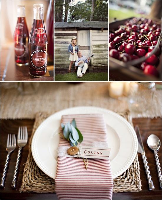 Americana wedding ideas #july4thwedding #americanatabledecor #july4thtablescape