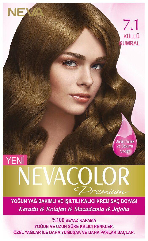 Neva Color Premium Sac Boyasi 7 1 Kullu Kumral Sac Boyasi Sac