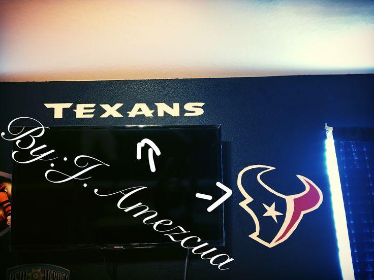 My Houston Texans game room Pinterest inspired