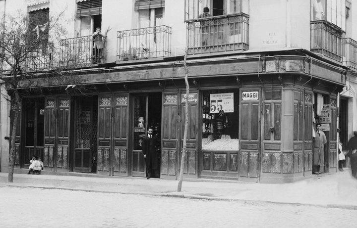 Tienda de ultramarinos de santa engracia 55 1914 ahora for Oficina de madrid santa engracia