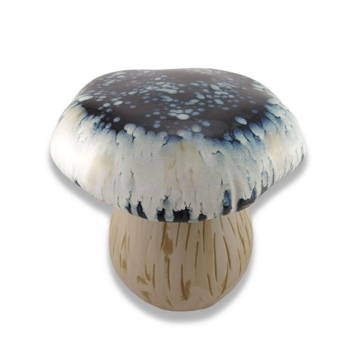 Ceramic Garden Stool Blue And White Urban Trends